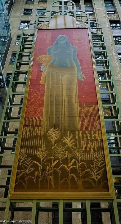Peinture Murale Sur Le Chicago Board Of Trade Building