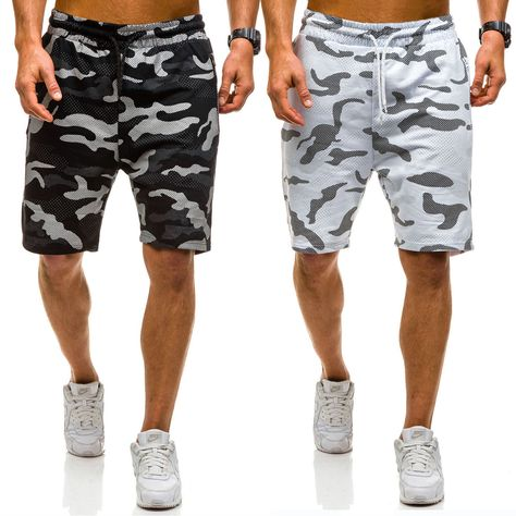 FINENICE Mens Shorts Summer Casual Solid Trunks Elastic Beach Surfing Running Pants 2019