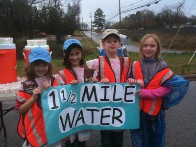 Service Project idea: volunteer to man the water station at a walk/race