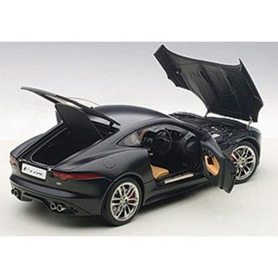 2015 Jaguar F Type R Coupe Matt Black 1 18 Model Car By Autoart Jaguar F Type Car Model Jaguar