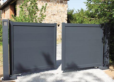 Portaleco Portail Coulissant Sans Seuil Beton Ni Pilier Imagenes De Puertas Puertas De Aluminio Puertas De Entrada