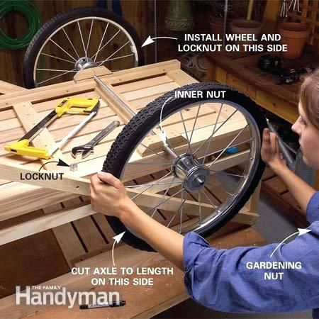 Cart Axle Kit Install The Axle And Wheels Garden Cart Wheel And