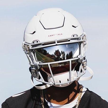 Mirror Visor On A Cardinal Speedflex Football Helmets Custom Football Football Wallpaper