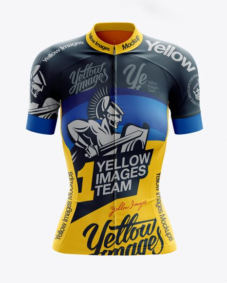 Free Mockups Women S Cycling Jersey Mockup Front View Object