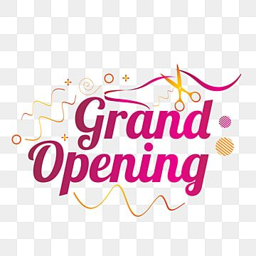 Lettering Of Grand Opening With Modern Purple Color Grand Background Banner Png And Vector With Transparent Background For Free Download Grand Opening Lettering Phone Wallpaper Images