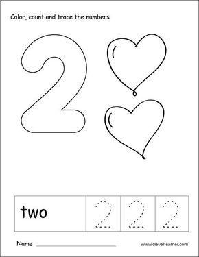 Number 2 Tracing And Colouring Worksheet For Kindergarten Math Activities Preschool Numbers Kindergarten Numbers Preschool