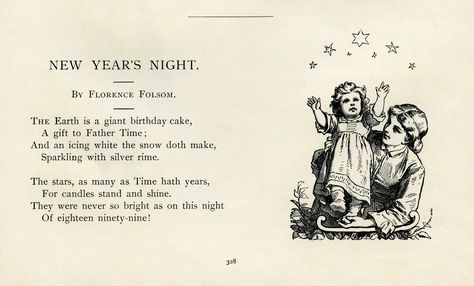 New Years Night Florence Folsom Poetry Vintage New Year