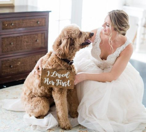 I loved her first/ Save The Date Dog Wedding Sign/My Humans Are Getting Married/My Parents Are Getting Married/Pet Wedding Accessories#accessories #date #dog #first #getting #humans #loved #married #marriedmy #marriedpet #parents #save #signmy #wedding