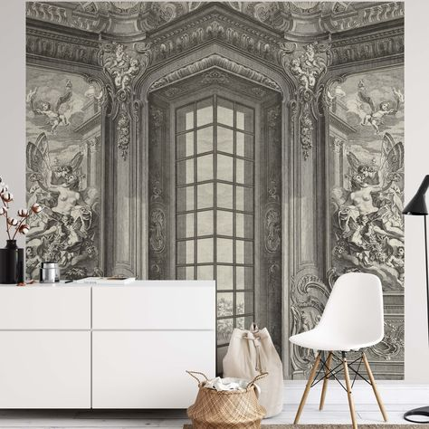 Create an epic focal point in your room, with the fully self-adhesive wallpaper mural: 'The Drawing Room'. Each wallpaper is available in a choice of 2 sizes; 150cm x 150cm (XL) or 200cm x 200cm (XXL), and is supplied in 2 self-adhesive pieces. Install on your wall in less than 15 minutes. For each item sold, one tree is planted. This helps to offset carbon released during production and shipping, and to create a net positive contribution over the tree's lifetime. Transform your home, and our pl