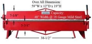 Industrial 48 Hand Brake Sheet Metal Bender Bending 36 In 2020 Sheet Metal Bender Metal Bender Sheet Metal