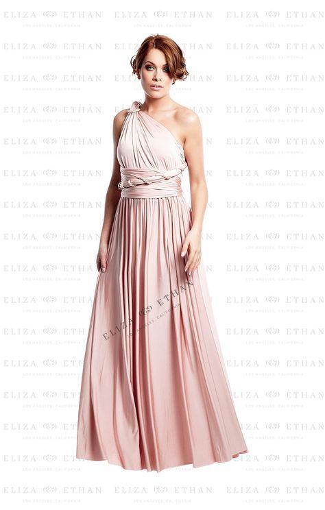 Diva Long Eliza Ethan Brautjungfern Kleider Kleid Altrosa Und Wickelkleid