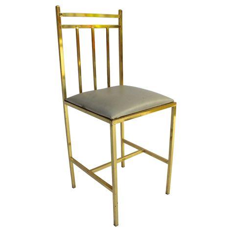 Chaise d'appoint en laiton doré | Seventies Chic