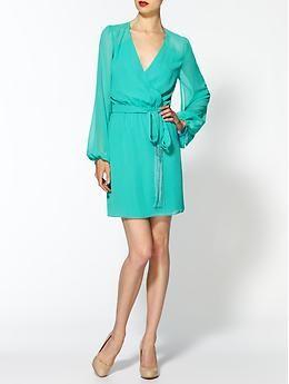 Erin Fetherston Cape Sleeve Wrap Dress   Piperlime