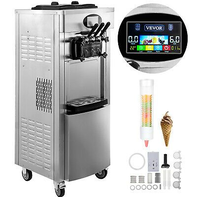 Ad Ebay Url 2200w Commercial Soft Ice Cream Machine 3 Flavors