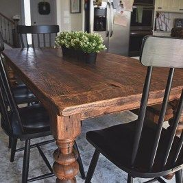 32 Inspiring Farmhouse Black Table Design Ideas To Manage Your
