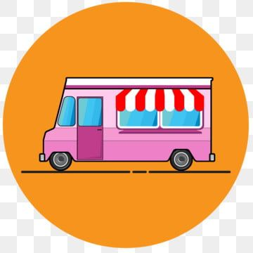 Food Truck Cartoon Vector Design Street Fast Food Truck Background Beef Burger Png And Vector With Transparent Background For Free Download Food Truck Cartoons Vector Vector Design