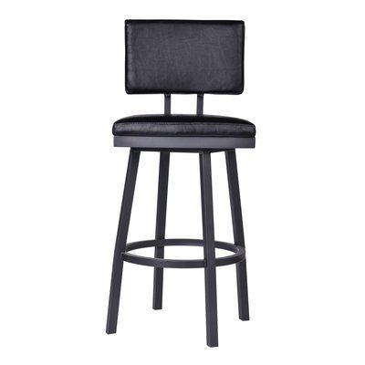 Pleasing Williston Forge Nakagawa 30 Swivel Bar Stool Color Black Inzonedesignstudio Interior Chair Design Inzonedesignstudiocom