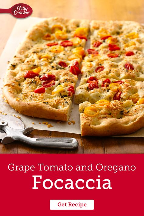 This easy Grape Tomato and Oregano Focaccia bread recipe turns any meal into a colorful feast of flavor. Pin this now, you'll want to come back.