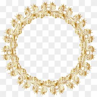 Gold Round Border Frame Png Clip Art Golden Round Frame Png Transparent Png Flower Frame Png Heart Frame Frame Clipart