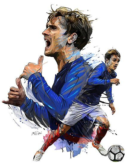 Pin By Farshad Hk On Grizy Antoine Griezmann Griezmann France Football Drawing