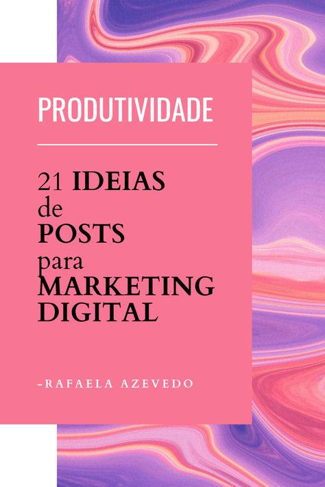 Produtividade - Marketing Digital