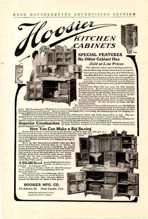 A Pictorial History Of The Hoosier Cabinet 9 Photos Old Photo Archive Vintage Photos And Historical Photos In 2020 Hoosier Cabinet Cabinet Cabinet Styles