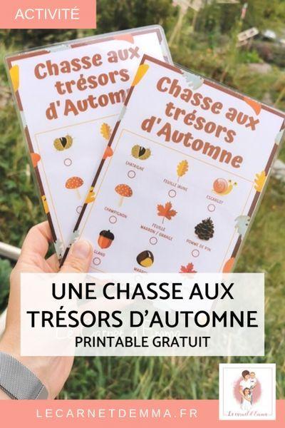 Une Chasse Aux Tresors D Automne Pour Les Enfants Le Carnet D Emma Activites Nature Enfants Chasse Au Tresor Activites Automne Maternelle