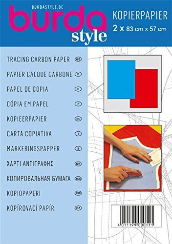 Amazon Com Burda Tracing Carbon Paper 1 X Blue 1 X Red By Burda