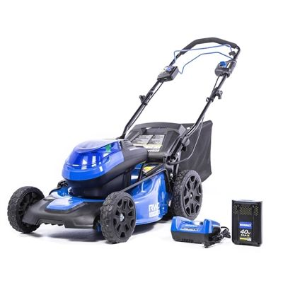 Kobalt Lawn Mower 2502903 40v 20in Brushless Self Propelled Mower With 5ah Battery Lawn Mower Battery Lawn Mower Battery Powered Lawn Mower