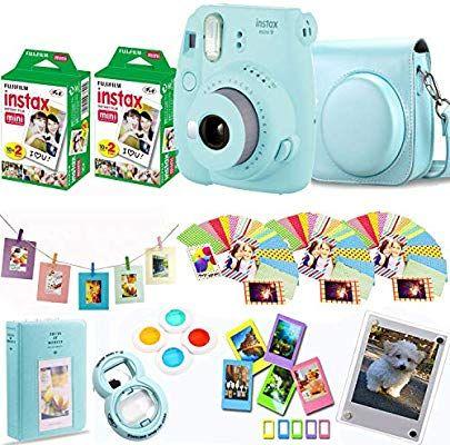 Cámara Instantánea Fujifilm Instax Mini 9 Película Fuji Instax 40 Disparos Funda Protectora Marc Fujifilm Instax Mini Instax Mini Fuji Instax