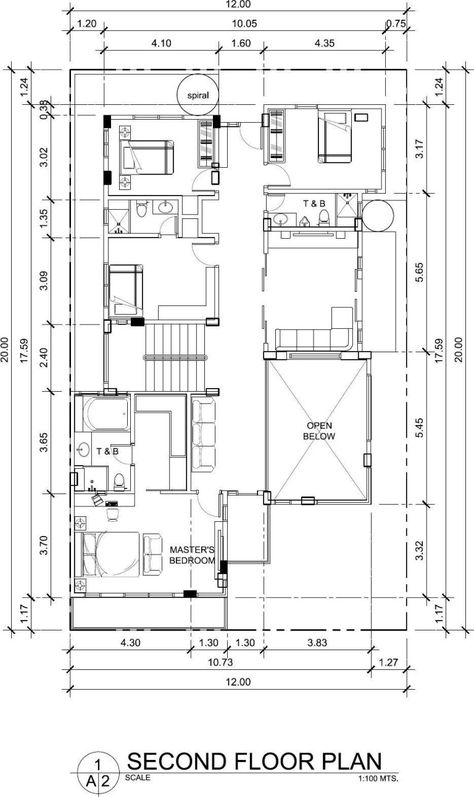 7 Bedroom Villa Design 12mx20m Samphoas Plan Villa Design House Plans Building Plans House