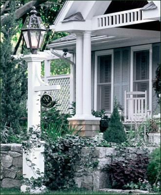 Lantern Post Outdoor Lamp Posts, White Lamp Post With House Number