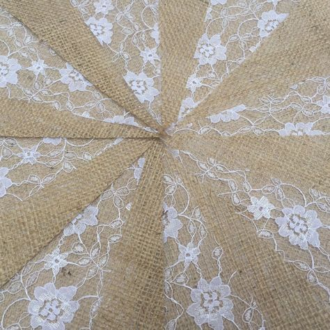 3m 5m 10m BUNTING Cream Lace /& Cotton Wedding Christening