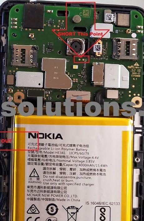 Nokia 2 1 TA-1084 Test Point Boot Into Edl 9008 Mode