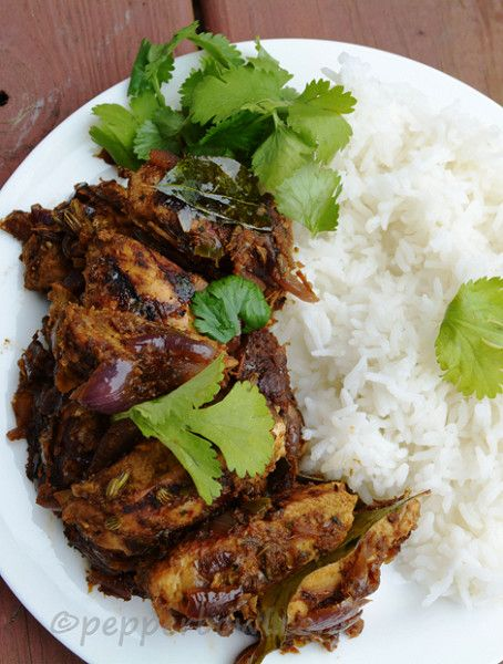 Fresh Coriander Chicken  - Sweet Heat from Morocco: Recipes with Moroccan Spices - Photos