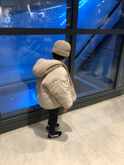 Relaxed and oversized padded jacket for kids and babies