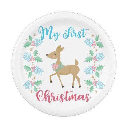 My First Christmas Paper Plate Xmas Christmaseve Christmas Eve Christmas Merry Xmas Family Kids G Christmas Paper Plates Christmas Designs My First Christmas