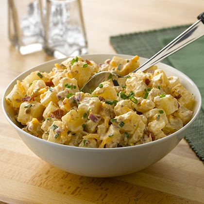 Cheesy Bacon Potato Salad Recipe Cheesy Bacon Potatoes Potatoe Salad Recipe Bacon Potato Salad Recipe
