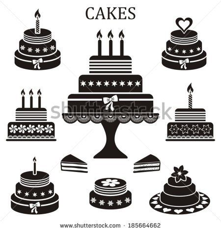 Cake Silhouette Stock Images Royalty Free Images 450x470 Jpeg Wedding Cake Vector Cake Vector Free Birthday Stuff
