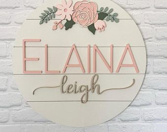 Round Hand Painted Wall Letters-round wall letters-wall letters for nursery-wooden wall letters