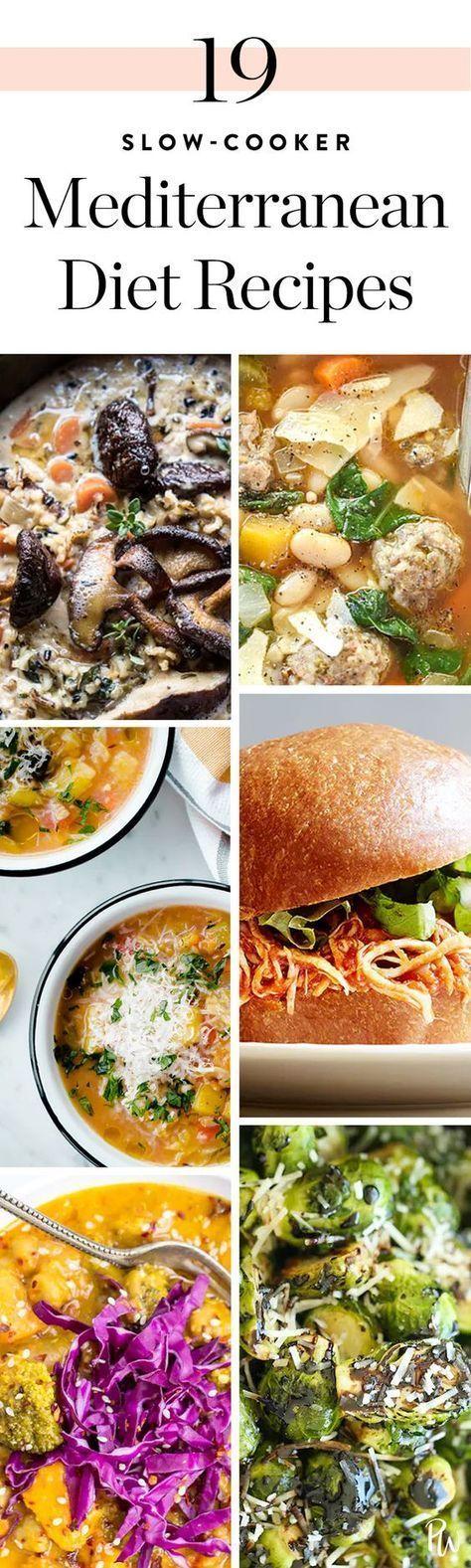 19 Mediterranean Diet Recipes You Can Make in Your Slow-Cooker. #slowcooker #mediterraneandiet #mediterraneanrecipes #healthyrecipes #healthyfood