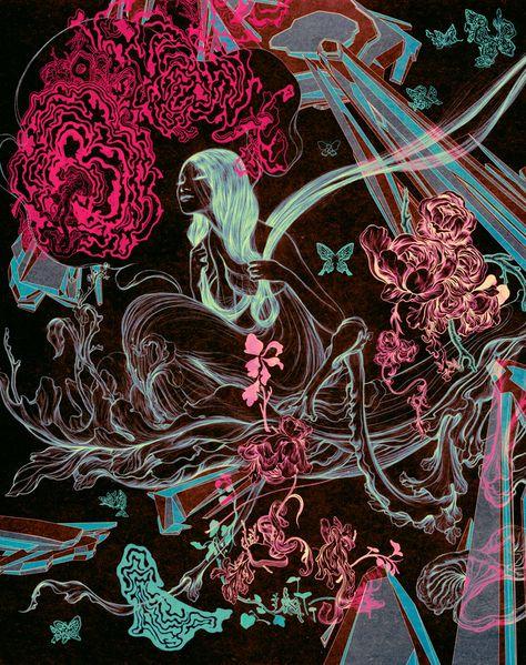 mural created for BLITZ at Lane Crawford in Hong Kong Marcel Duchamp, Kunst Inspo, Art Inspo, Art And Illustration, Psychedelic Art, Futuristic Art, Baroque, Magazine Art, Famous Artists