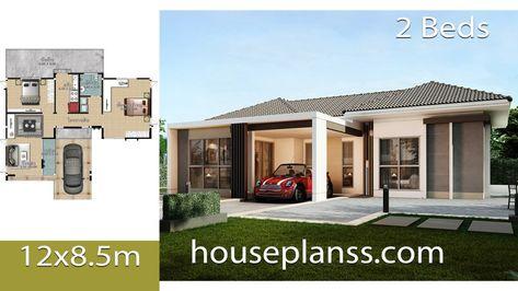 House Plans Idea 12x8 5 With 2 Bedrooms House Plans 3d Home Design Plans My House Plans Simple House Design