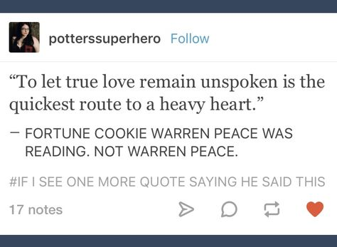 Tumblr; Sky High; Warren Peace; not Warren Peace