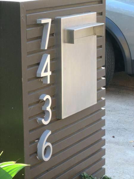 Recessed Mailbox Modern Design Mailboxes Best Mail Box Design