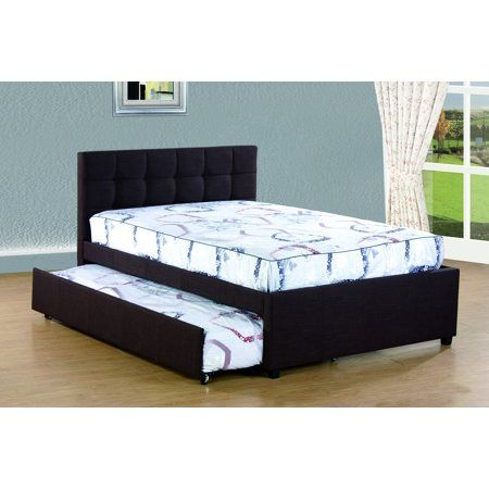 Home Twin Trundle Bed Upholstered Full Bed Furniture