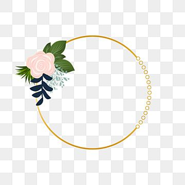 Wedding Invitation Decoration With Gold Circle Frame Bunga Alam Musim Panas Png Transparent Image And Clipart For Free Download Circle Frames Wedding Frames Gold Circle Frames