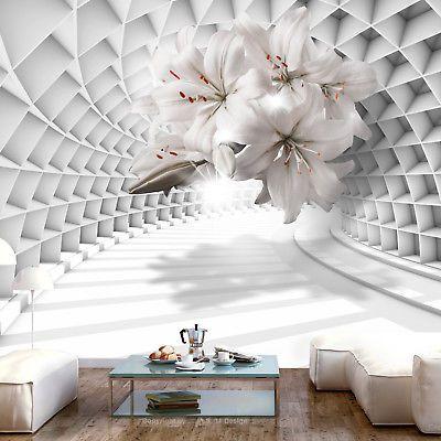 Vlies Fototapete 3d Optik Blumen Lilien Vlies Tapete xxl ...