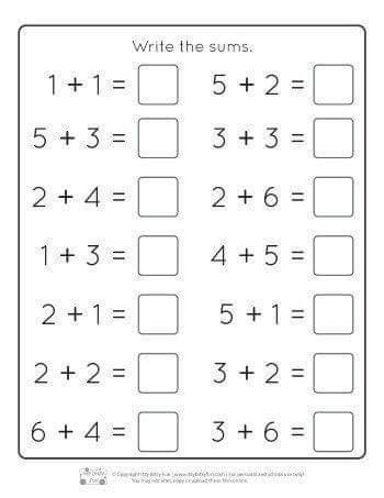 Pin By Aish Ch On Maths With Images Kindergarten Addition