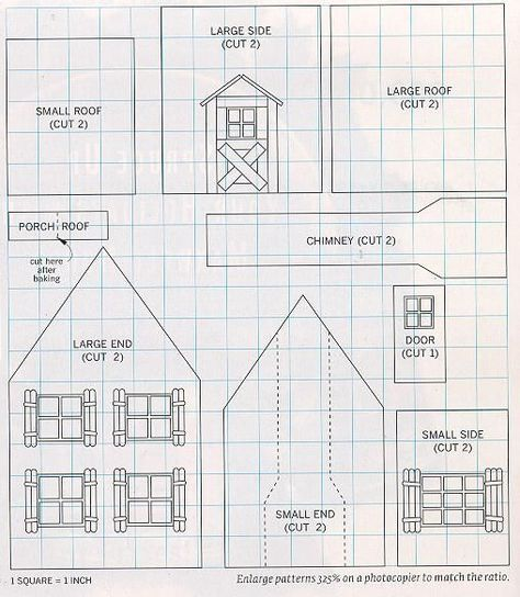 Free Gingerbread House Plans Gingerbread House Instructions Tips And Mo Cardboard Gingerbread House Gingerbread House Patterns Gingerbread House Template
